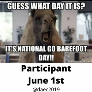 It's National Go Barefoot Day!!!
